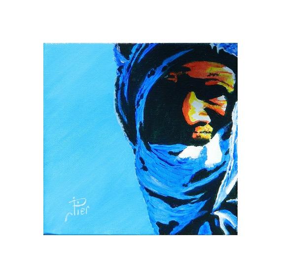 tableau africain bleu