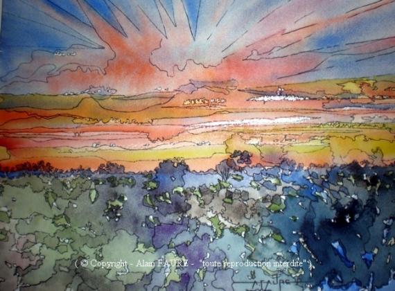 Tableau peinture alain faure en peinture aquarelle musique for Peinture conceptuelle
