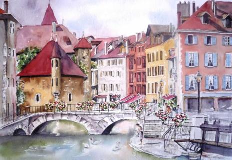 Prison Vieille Ville Annecy Peinture Tableau