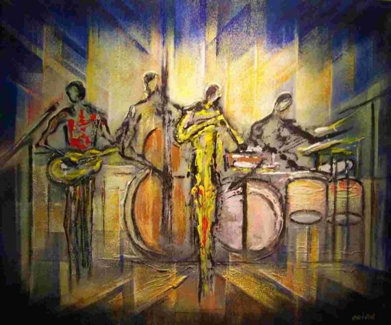 peinture jazz tableaux