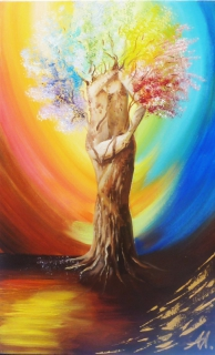 tableau peinture arbre couple vie anna maillard arbre de vie. Black Bedroom Furniture Sets. Home Design Ideas