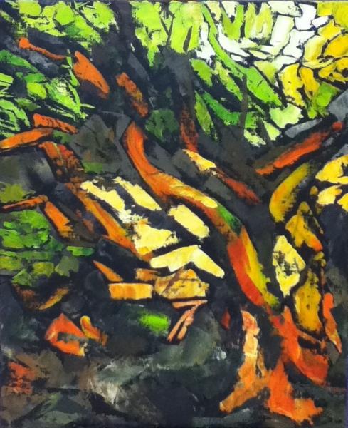 Favori TABLEAU PEINTURE Arbre stylisé Nature Ramure Arbre en feuilles  PQ72