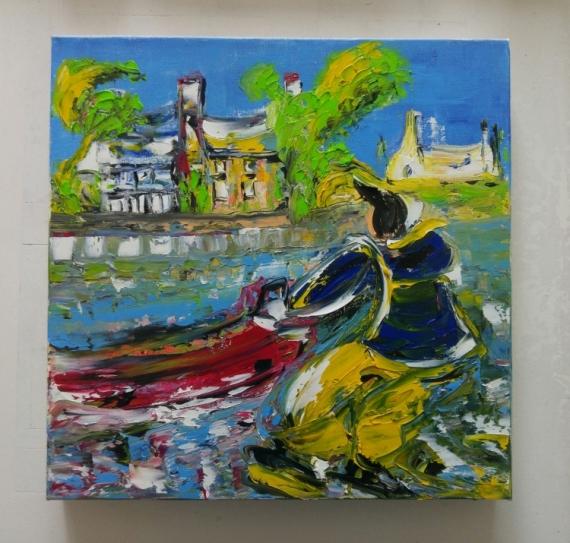 tableau peinture art peinture nouveau contemporain huile couteau bretag edwige lefevre seb le. Black Bedroom Furniture Sets. Home Design Ideas
