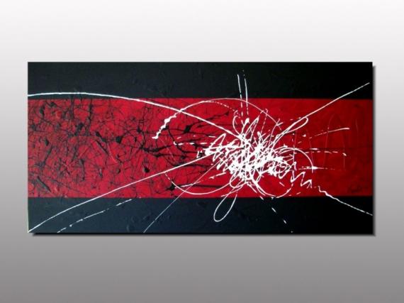 TABLEAU PEINTURE artiste peintre abst peinture rouge abstr ...