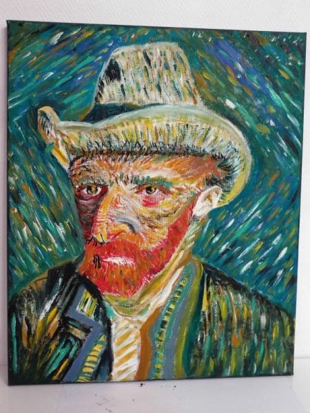 Tableau peinture autoportrait van gogh huile toile van gogh - Peinture a l huile van gogh ...
