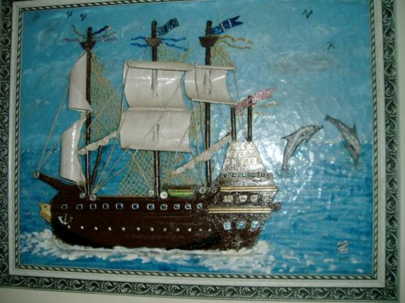 bateau 3 voiles