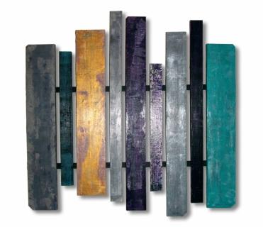 Tableau peinture bois palette texture carr s la cit bleue for Peindre une palette