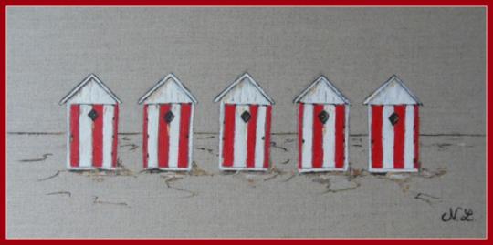 tableau peinture cabine plage lin deco n 4 les cabines. Black Bedroom Furniture Sets. Home Design Ideas