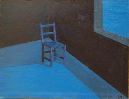 tableau peinture chaise solitude lune attente apr s la solitude. Black Bedroom Furniture Sets. Home Design Ideas