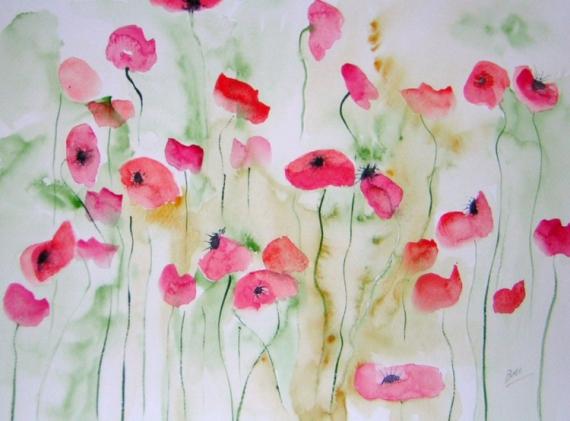 tableau peinture coquelicots fleurs champs de coquelicots. Black Bedroom Furniture Sets. Home Design Ideas
