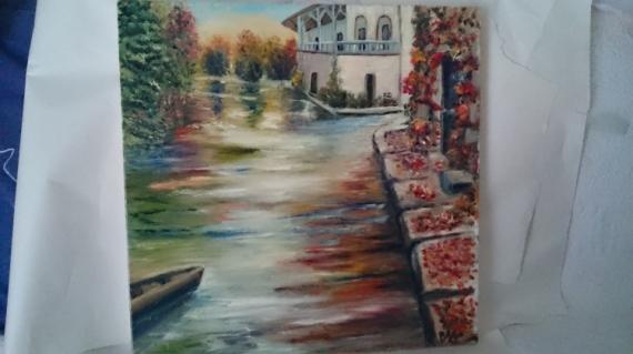 Tableau peinture couleurs du nord couleurs du nord for Peinture a lhuile couleur argent