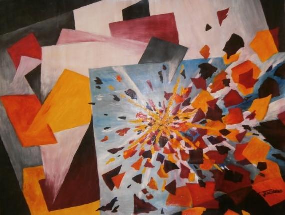 Tableau peinture cri eclat tumulte chaos le cri 1 - Eclat baignoire acrylique ...