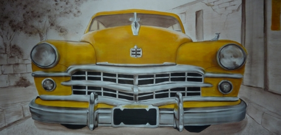 tableau peinture cuba voiture voiture cuba. Black Bedroom Furniture Sets. Home Design Ideas