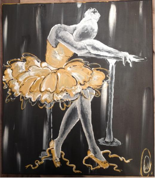 tableau peinture danseuse toile peinture d 39 une peinture de aa labri peinture danseuse cl. Black Bedroom Furniture Sets. Home Design Ideas