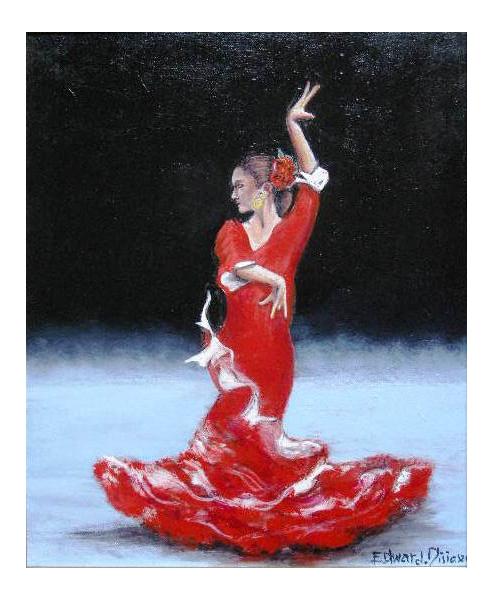 Pin dessin danseuse espagnole on pinterest - Danseuse flamenco dessin ...