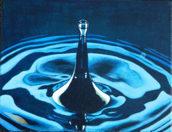 tableau peinture eau goutte reflets onde juste une goutte. Black Bedroom Furniture Sets. Home Design Ideas