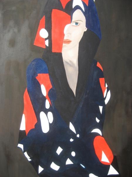 tableau peinture femme bleu blanc rouge patrie france marianne. Black Bedroom Furniture Sets. Home Design Ideas