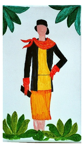 Tableau peinture femme mode annes folles 1925 pochette - La mode en peinture ...