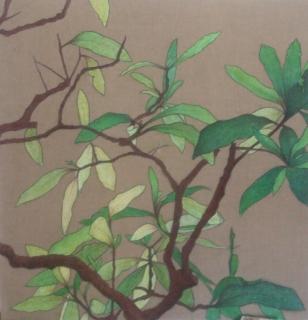 Tableau peinture fleur japon dixuitieme grace plante for Plante japonaise