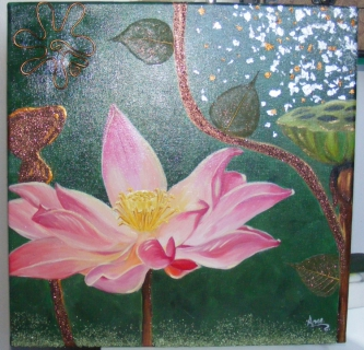 lotus flower paintings on canvas quotes