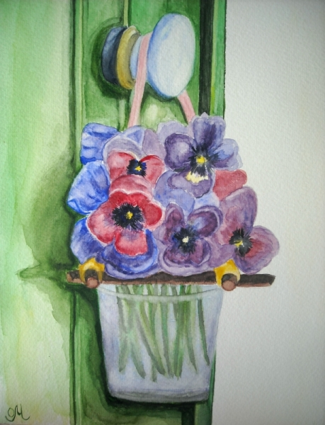 tableau peinture aquarelle fleurs bouquet. Black Bedroom Furniture Sets. Home Design Ideas