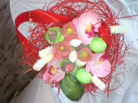 faite soi meme un bouquet en bonbon, galerie-creation