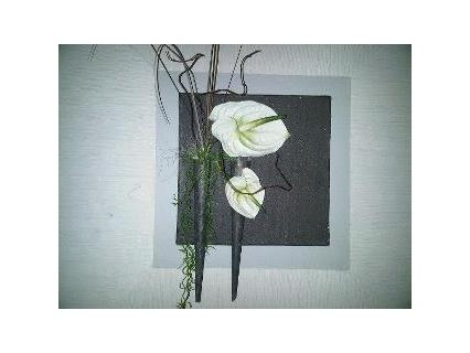 tableau peinture fleurs contemporain fleurs. Black Bedroom Furniture Sets. Home Design Ideas