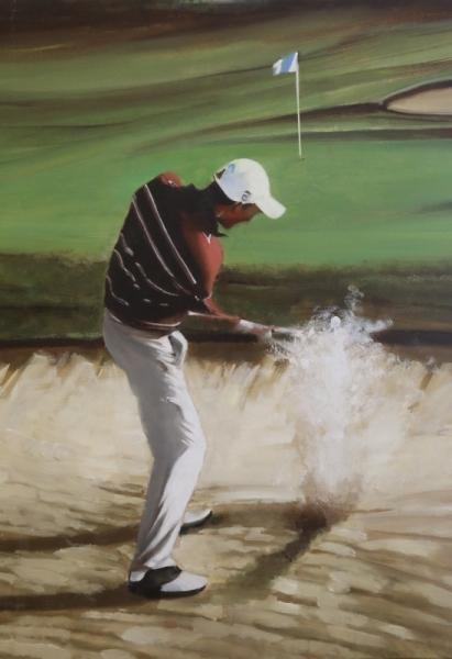 tableau peinture golf golfeur sport jeux je plaiderai. Black Bedroom Furniture Sets. Home Design Ideas