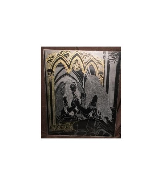 Tableau peinture gravure gravure sur verre tableau for Reflet dans le miroir