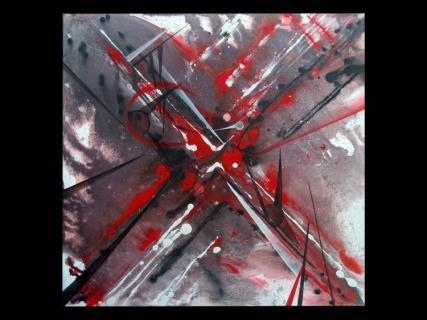 Tableau peinture gris rouge blanc noir projection - Peinture gris rouge ...