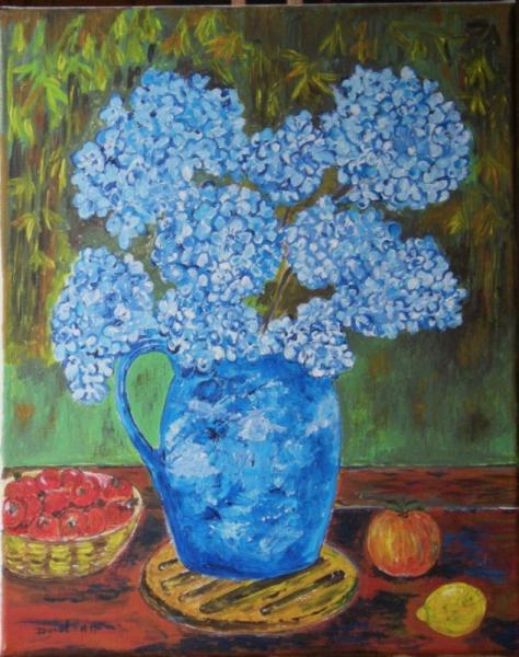 tableau peinture hortensia (10)