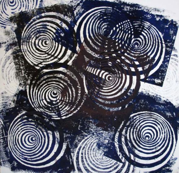 Tableau peinture illusion optique gravure l 39 illusion du for Illusion d optique peinture
