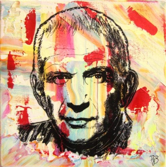 Célèbre PEINTURE - jean-paul-gaultier-abstrait-portrait-tableau_acrylique  GH46