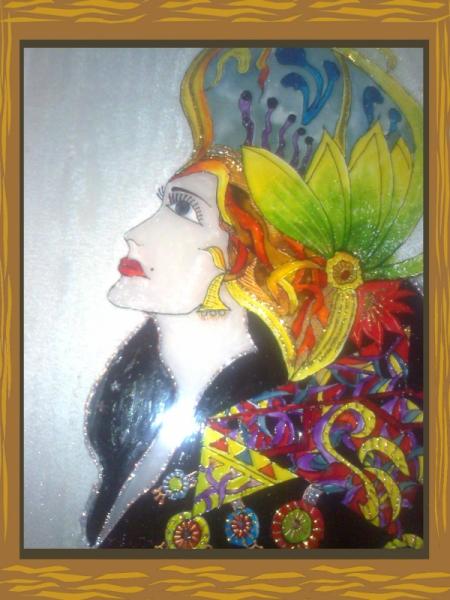 Tableau peinture la peinture sur verre belle - Creation tableau photo ...