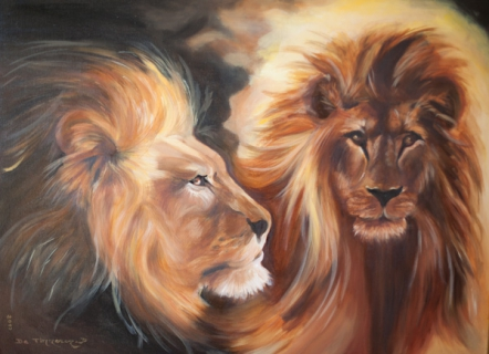 tableau peinture lion savane afrique roi des animaux. Black Bedroom Furniture Sets. Home Design Ideas
