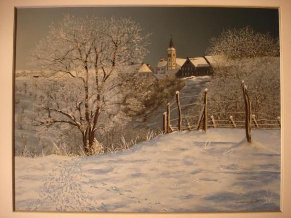 tableau peinture lorraine bliesbruck paysage pastel paysage hivernal. Black Bedroom Furniture Sets. Home Design Ideas