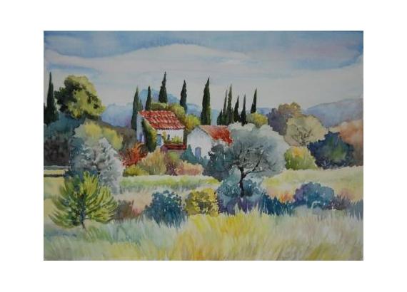 Tableau peinture lubron provence sud lubron for Peinture du liberon