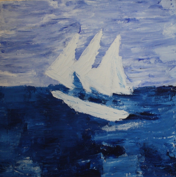 tableau peinture marine abstraite peinture abstraite peinture marine bateau voilier. Black Bedroom Furniture Sets. Home Design Ideas