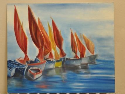 tableau peinture marine bateau color huile les bateaux. Black Bedroom Furniture Sets. Home Design Ideas