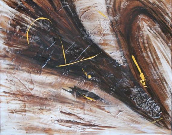 tableau peinture marron beige abstrait bois concomitance. Black Bedroom Furniture Sets. Home Design Ideas