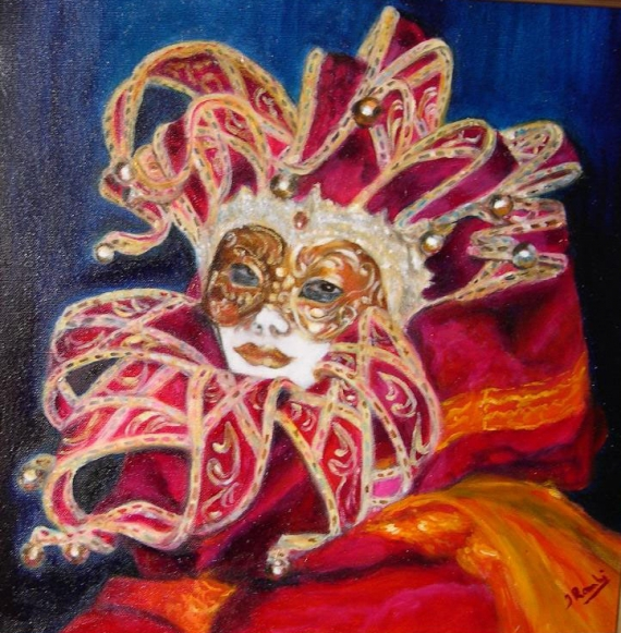 Tableau peinture masque venise carnaval peinture dis moi for Peinture qui masque les imperfections