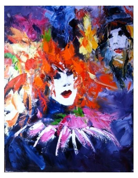 Tableau peinture masque venise venezia carnaval masque venise - Masque a peinture ...