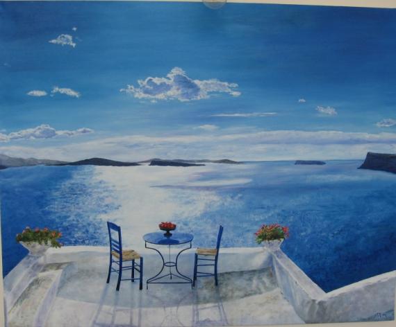 Image gallery peinture grece for Peinture bleu marine mat