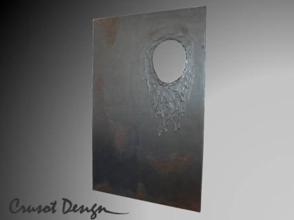 tableau peinture metal fusion coulure fondu point de fusion. Black Bedroom Furniture Sets. Home Design Ideas
