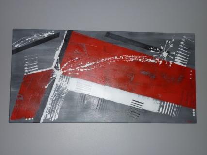 Tableau peinture moderne abstrait contemporain red carpet for Tableau moderne contemporain