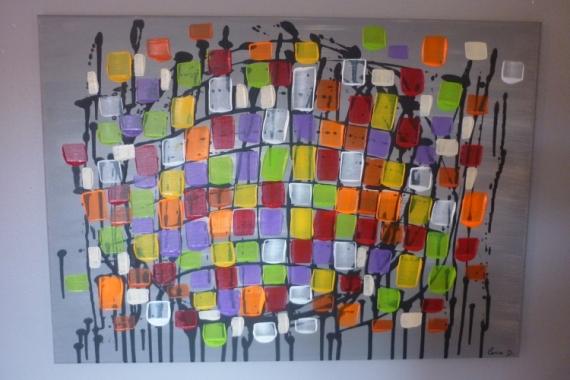 tableau peinture moderne contemporain abstrait gris mon paradis. Black Bedroom Furniture Sets. Home Design Ideas