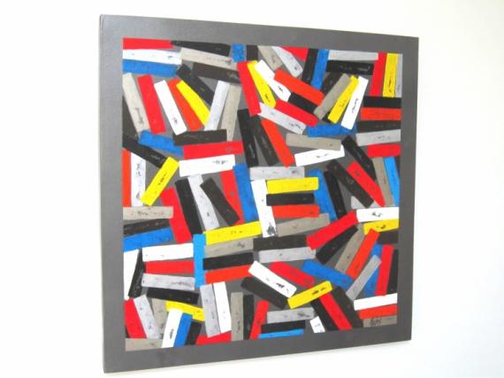 tableau peinture multicolore abstrait color abstrait peinture a lhuile colors - Tableaux Abstraits Colors