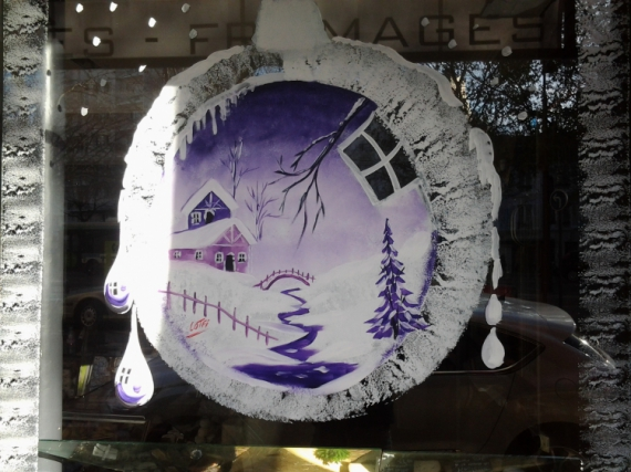 Deco vitrine noel peinture - Peinture de noel ...