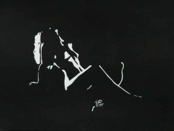 Peinture pour le corps nue
