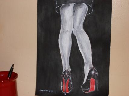 tableau peinture nus nature pers chaussure des ho et des ba. Black Bedroom Furniture Sets. Home Design Ideas